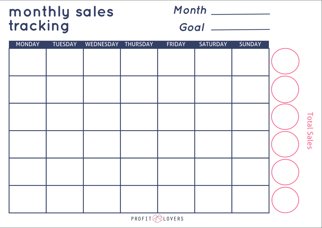Downloadable Sales Tracker Template