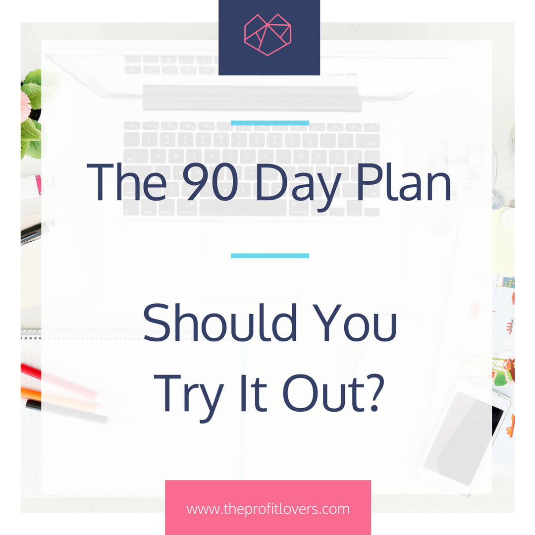 The 90 Day Plan for women in business profit lovers