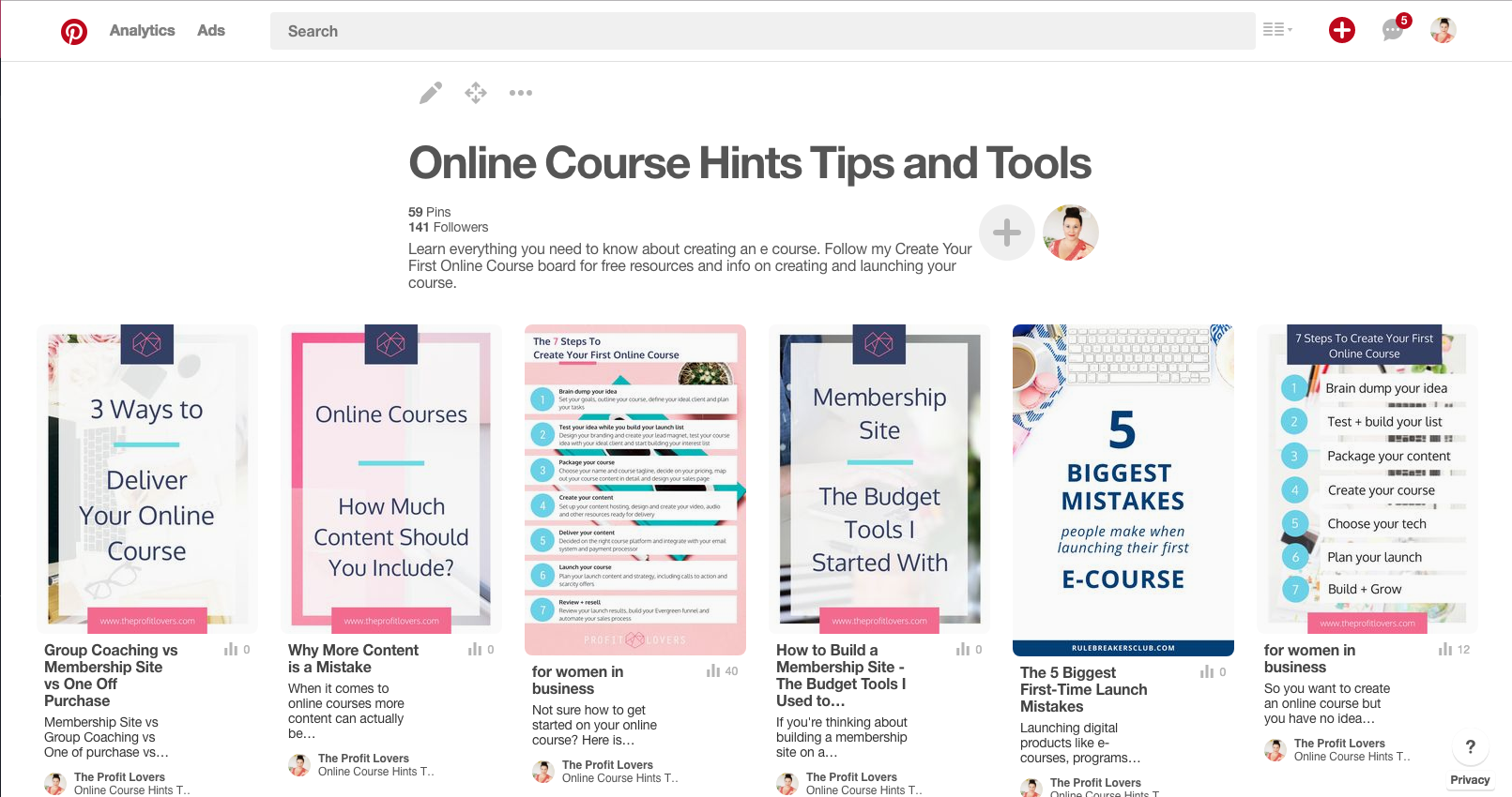 how to use pinterest to build your list for your ecourse launch