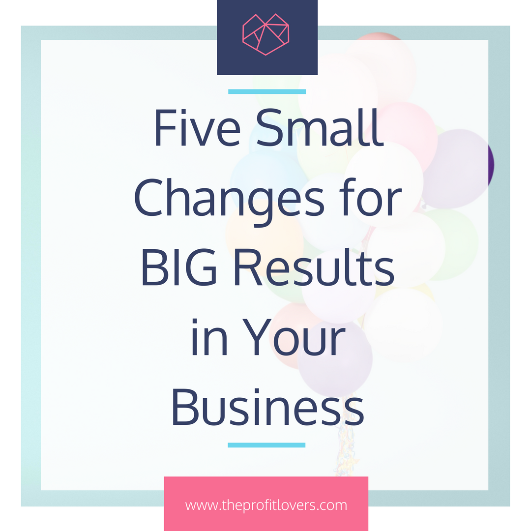 5 small changes you can make to your business that improve profit for free. The Profit Lovers for Women in Business.