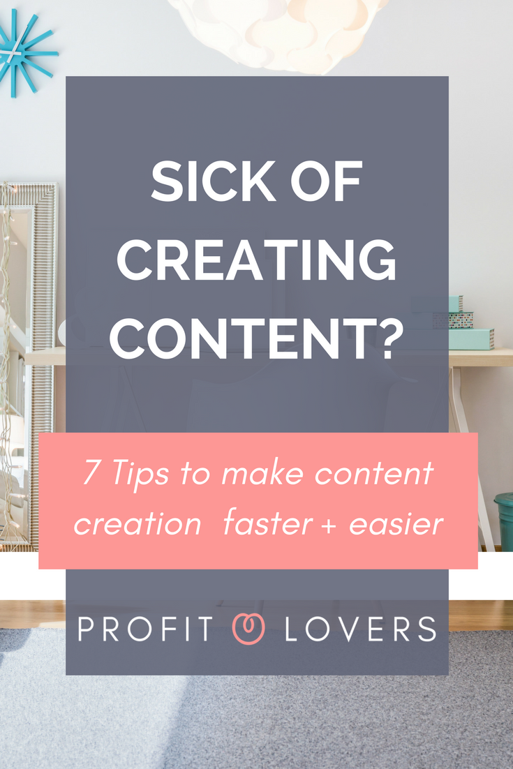 Sick of creating content for your online course or business here are 7 tips to streamline your content creation process